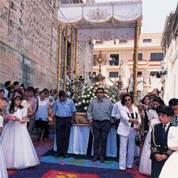 Fiesta de las Alfombras de Serrín, en Elche de la Sierra