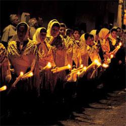 Procesión del Santísimo Cristo de la Sala, en Bargas