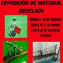 Exposición de material reciclado en Oropesa