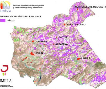 Mapa de Denominación de Origen Jumilla