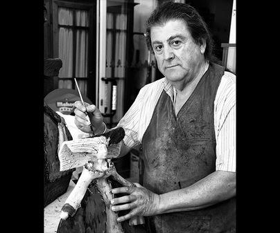 Taller de artesanía de Luis del Castillo Barámbio
