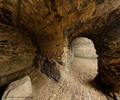Restos romanos bajo calle Alfonso X