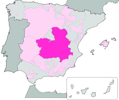 Mapa de Denominación de Origen Vino de la Tierra de Castilla