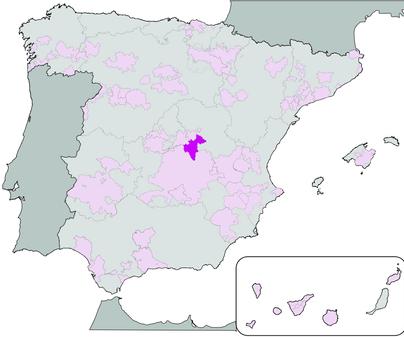 Mapa de Denominación de Origen Vino de Uclés