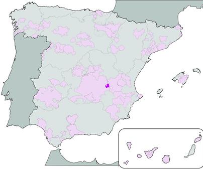 Mapa de Denominación de Origen Ribera del Júcar