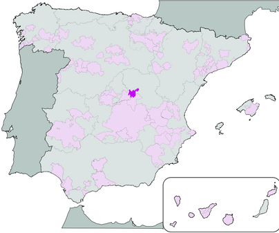 Mapa de Denominación de Origen Vino de Mondéjar