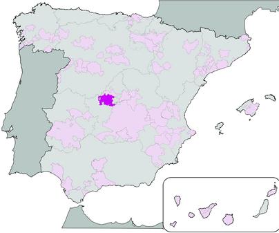 Mapa de Denominación de Origen Vino de Méntrida