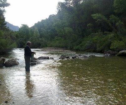Los Siseros. Pescando