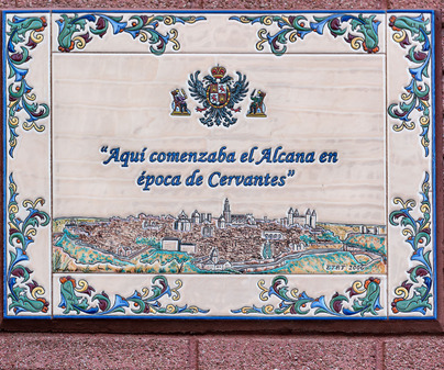 Placa Toledo Cervantes Don Quijote