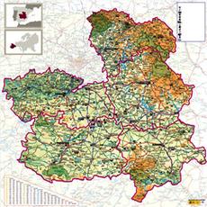 Mapa Provincia De Toledo Turismo.Mapas Turisticos Tclm