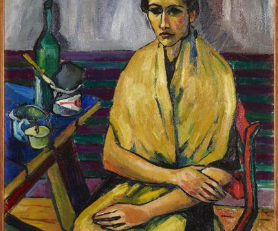 "HERMMAN MAX PECHSTEIN. ""Portrait of Charlotte Kaprolat"", 1909."