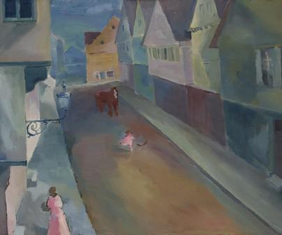 "WASSILY KANDINSKY. ""A Street in Murnau"", 1908."