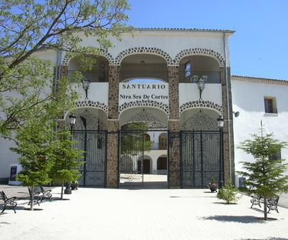Entrada Santuario Virgen de Cortes