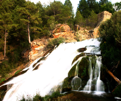 Salto de Poveda en Poveda de la Sierra (Guadalajara)