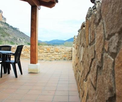 Casa rural El Escaleron terraza 1