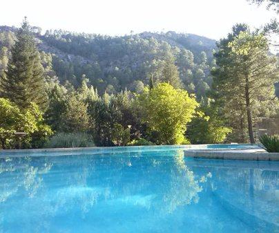 La Cabaña vistas piscina