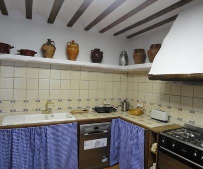 Cocina Casa Rural El Arriero en los Hinojosos