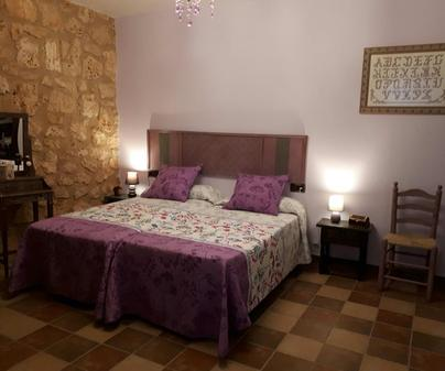 Casa rural San Cristobal, dormitorio morado