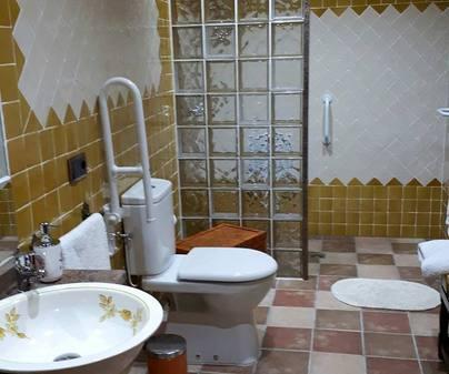 Casa rural San Cristobal, baño discapacitados