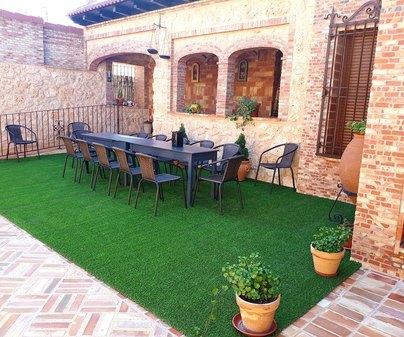 Casa Rural San Cristobal, patio jardin