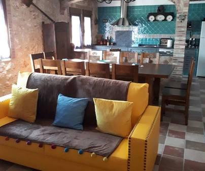 Casa rural San Cristobal, salón cocina