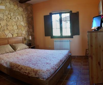 Dormitorio de Casa Rural La Cañada de Albendea en Albendea (Cuenca)