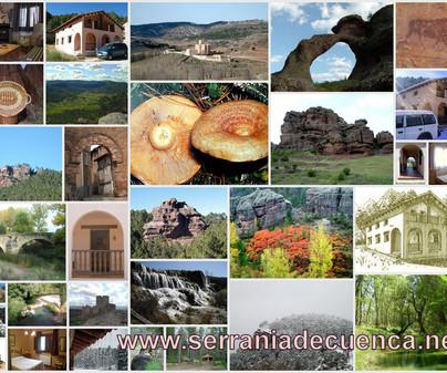 Collage sobre la Casa Rural el Rodeno en Boniches (Cuenca)