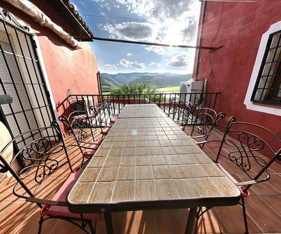 Terraza en  Casa Rural El Vallejo de Jabalera II en Valle de Altomira (Cuenca)