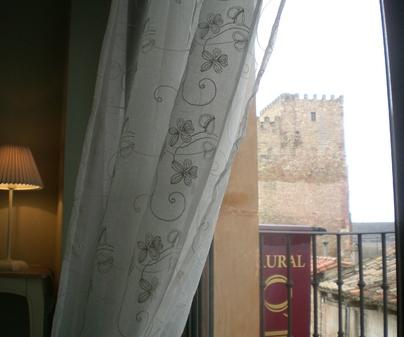 Vista desde una ventana de Casa Rural El Castillo en Sigüenza (Guadalajara)