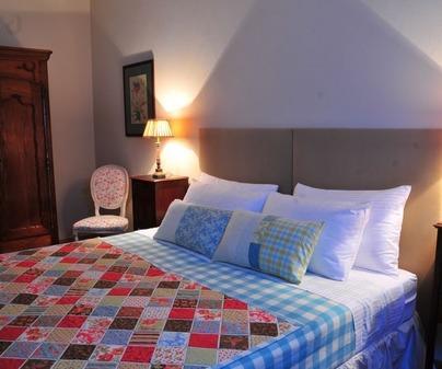 Dormitorio de Casa Rural Finca Los Batanes en Alameda de Carvera (Ciudad Real)