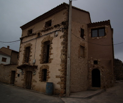 Fachada de la Casa Rural El Rincón de Alba. Tortuera (Guadalajara)