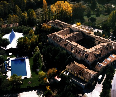Vista aérea del Hotel Cueva del Fraile (Cuenca)