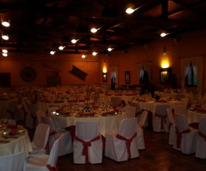 Salón boda. Restaurante Casas de Luján. Saelices (Cuenca)
