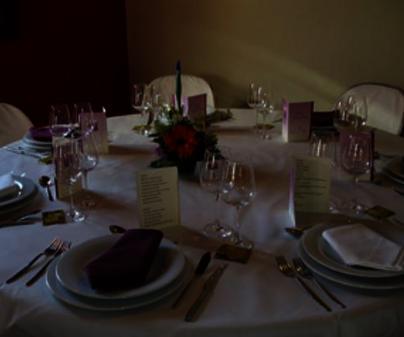 Mesa de celebración del Restaurante Enoturismo Mainetes en Fuente-Alamo (Albacete)