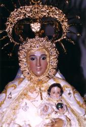 Imagen de la Virgen de los Dados, patrona de Maqueda